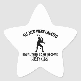 cool squash player design star sticker