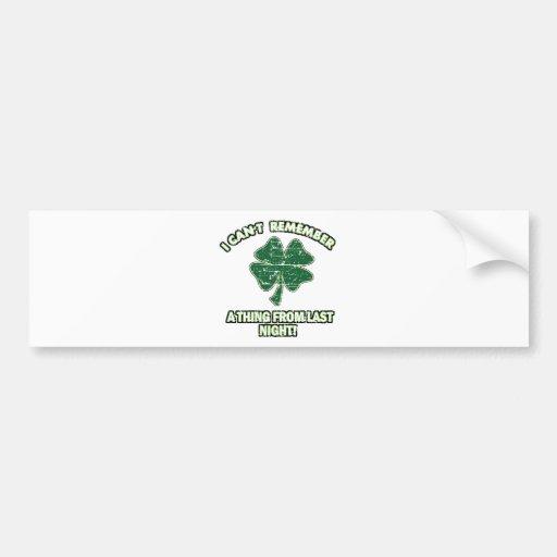 Cool St' Patrick's day designs Car Bumper Sticker