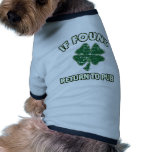 Cool St' Patrick's day designs Doggie T-shirt