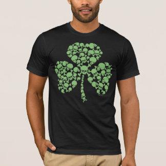 Cool St Pats Skulls Shamrock T-Shirt
