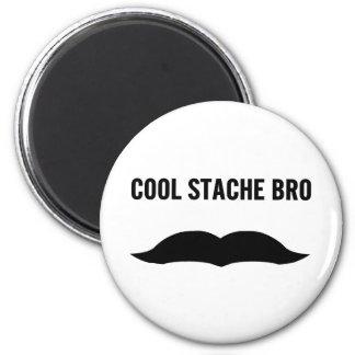 Cool Stache Bro 2 Inch Round Magnet