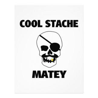 Cool Stache Matey Pirate Skull Letterhead