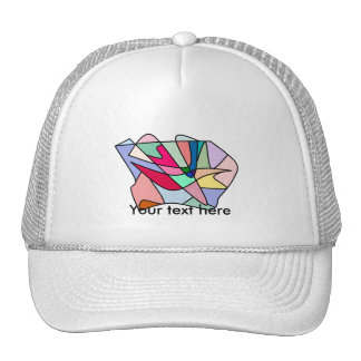 Cool stained glass lips and tongue in multicolors trucker hat