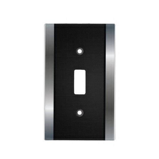 Cool Stainless Steel Border Black Silver Metal Switch