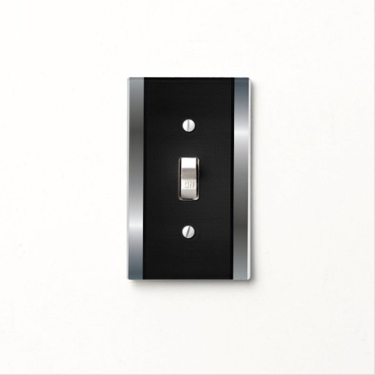 Cool Stainless Steel Border Black Silver Metal Light Switch Cover