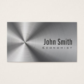 Cool Stainless Steel Economist Business Card