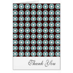 Cool Star and Circles Thank You Greeting Card