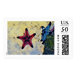 Cool Star On Sandy Ocean Floor Postage