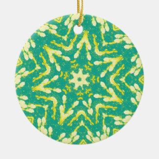 Cool Star Shaped Colorfull Pop Tye Dye Ceramic Ornament