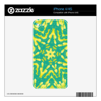 Cool Star Shaped Colorfull Pop Tye Dye iPhone 4S Decals