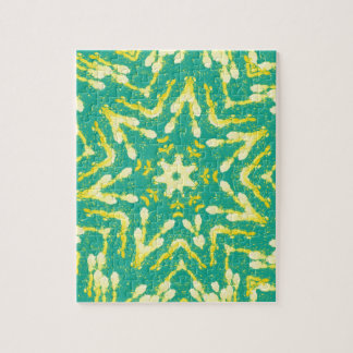 Cool Star Shaped Colorfull Pop Tye Dye Jigsaw Puzzle