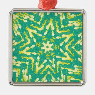 Cool Star Shaped Colorfull Pop Tye Dye Metal Ornament