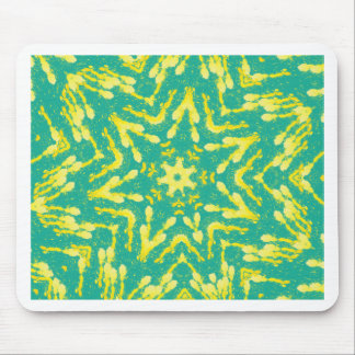Cool Star Shaped Colorfull Pop Tye Dye Mouse Pad