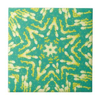 Cool Star Shaped Colorfull Pop Tye Dye Tile