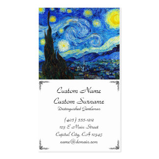 Cool Starry Night Vincent Van Gogh paint Business Business Card
