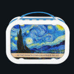 """Cool Starry Night Vincent Van Gogh painting art Lunch Box<br><div class=""""desc"""">cool,  starry,  night,  vincent,  van,  gogh,  painting,  old,  master,  masterpiece,  fine,  retored,  impressionism,  pain,  vibrant,  saturated,  colour,  beautiful,  nice,  quality,  high,  resolution,  landscape,  scenery,  post,  decoration,  star, </div>"""