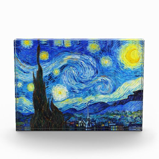 Cool Starry Night Vincent Van Gogh painting Acrylic Award