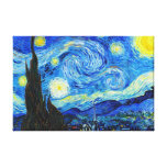Cool Starry Night Vincent Van Gogh painting Canvas Print
