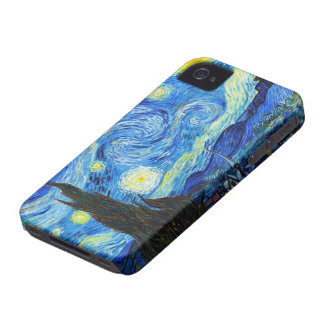 Cool Starry Night Vincent Van Gogh painting iPhone 4 Case-Mate Case