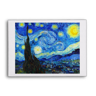 Cool Starry Night Vincent Van Gogh painting Envelopes