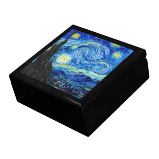 Cool Starry Night Vincent Van Gogh painting Jewelry Boxes