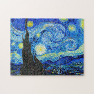 Cool Starry Night Vincent Van Gogh painting Jigsaw Puzzle