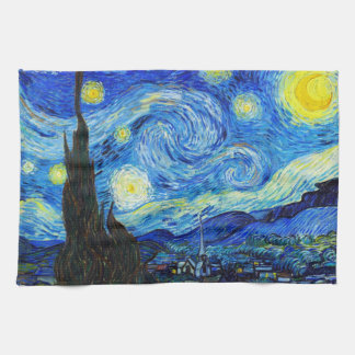 Cool Starry Night Vincent Van Gogh painting Kitchen Towel