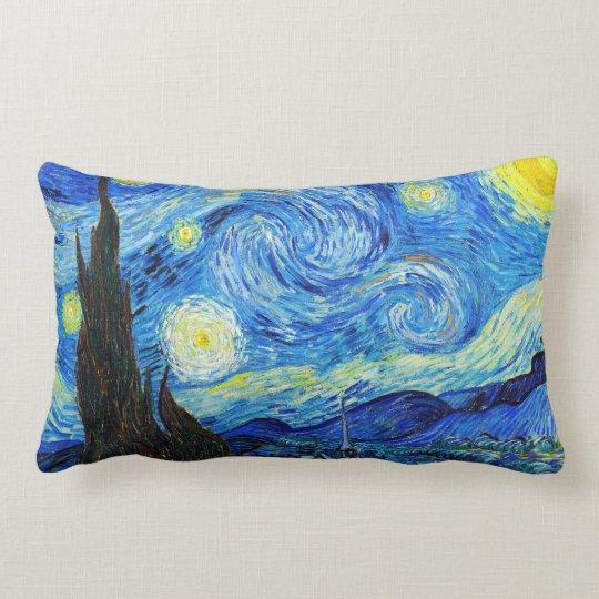 Cool Starry Night Vincent Van Gogh painting Lumbar Pillow