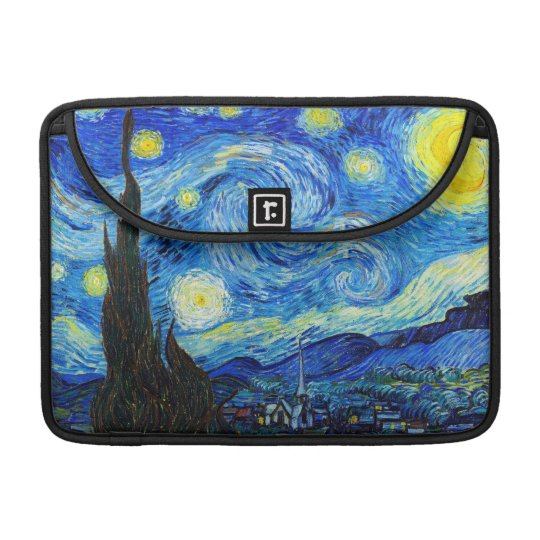 Cool Starry Night Vincent Van Gogh painting MacBook Pro Sleeve