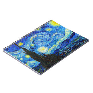 Cool Starry Night Vincent Van Gogh painting Notebook