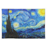 Cool Starry Night Vincent Van Gogh painting Cloth Placemat