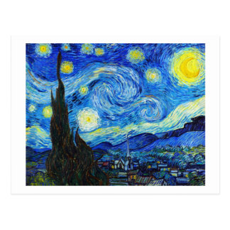 Cool Starry Night Vincent Van Gogh painting Postcard