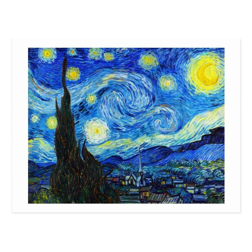 Cool Starry Night Vincent Van Gogh painting Post Card