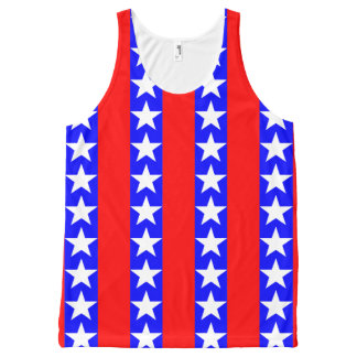 Cool Stars and Bars All-Over Print Tank Top