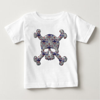 Cool Stars & Stripes Silver Skull Patriotic Baby T-Shirt