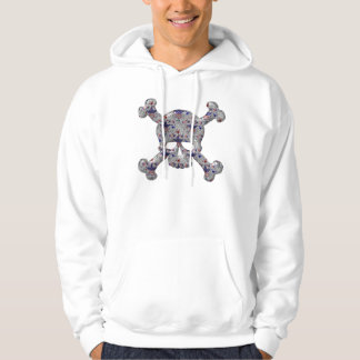 Cool Stars & Stripes Silver Skull Patriotic Hoodie