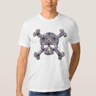 Cool Stars & Stripes Silver Skull Patriotic T-Shirt