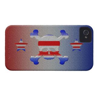 Cool Stars & Stripes Skull USA Patriotic iPhone 4 iPhone 4 Case-Mate Cases