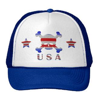 Cool Stars & Stripes Skull USA Patriotic Trucker Hat