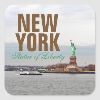 Cool Statue of Liberty - NY New York City Square Sticker
