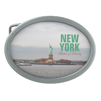 Cool Statue of Liberty - NY New York Oval Belt Buckle