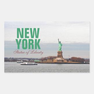 Cool Statue of Liberty - NY New York Rectangular Sticker