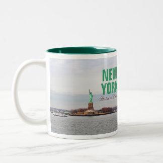Cool Statue of Liberty - NY New York Two-Tone Coffee Mug