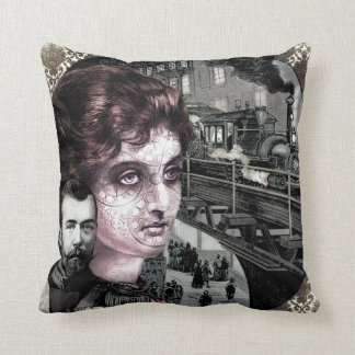 Cool Steam Punk Art Design Throw Pillow