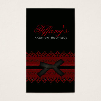 Cool Steampunk Gothic Red Lace Black bow Business Card