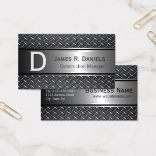 Diamond shaped business cards templates zazzle cool steel gray faux metal diamond plate pattern business card colourmoves