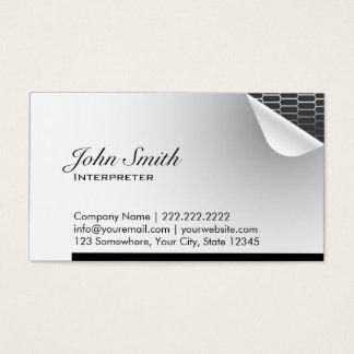 Cool Steel Inside Interpreter Business Card