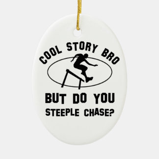 cool steeple chase designs ceramic ornament