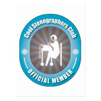 Cool Stenographers Club Postcard