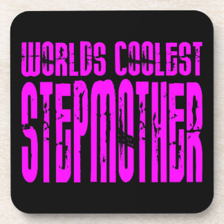 Cool Stepmoms : Pink Worlds Coolest Stepmother Drink Coasters